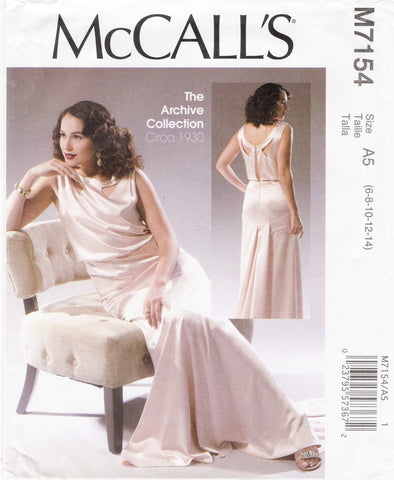 McCall's 7154 Misses' Dress - A5 (6-8-10-12-14) - Smiths Depot Sewing Pattern Superstore