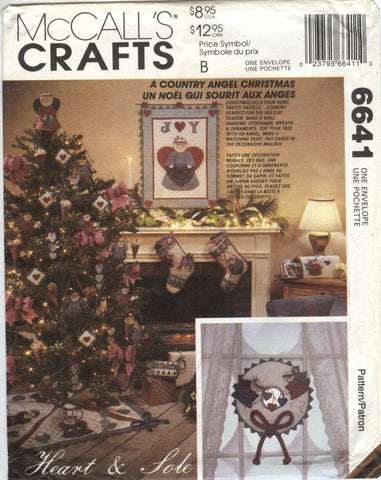 McCall's 6641 Christmas Decorations -  - Smiths Depot Sewing Pattern Superstore