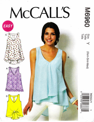 McCall's 6960 Misses' Tops and Tunics