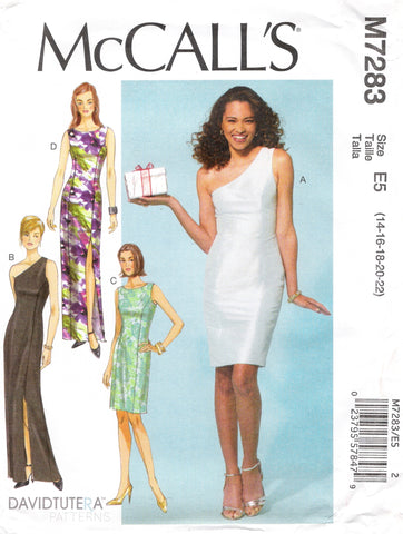 McCall's 7283 Misses'/Miss Petite Dresses - E5 (14-16-18-20-22) - Smiths Depot Sewing Pattern Superstore