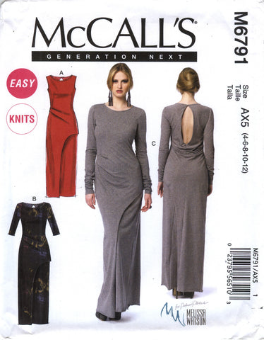 McCall's 6791 Misses' Dresses - AX5 (4-6-8-10-12) - Smiths Depot Sewing Pattern Superstore  - 1