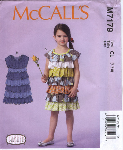 McCall's 7179 Children's/Girls' Dresses - CL (6-7-8) - Smiths Depot Sewing Pattern Superstore