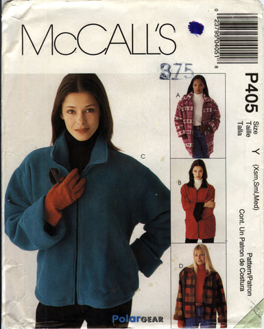 McCall's 0405 Misses' Lined Jacket in Two Lengths - Y (4-6-8-10-12-14) - Smiths Depot Sewing Pattern Superstore