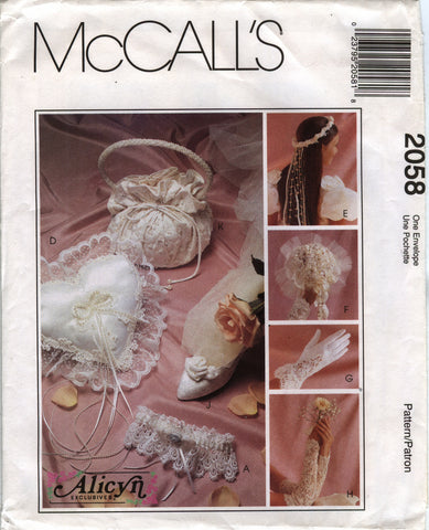 McCall's 2058 Bridal Accessories -  - Smiths Depot Sewing Pattern Superstore