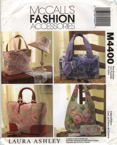 McCall's 4400 Handbags, Hat and Accessories -  - Smiths Depot Sewing Pattern Superstore