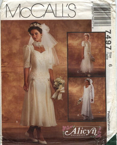 McCall's 7497 Misses' Bridal Gown and Bridesmaid Dress - (6) - Smiths Depot Sewing Pattern Superstore