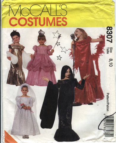 McCall's 8307 Children's/Girls' Glamour Costumes - (8-10) - Smiths Depot Sewing Pattern Superstore
