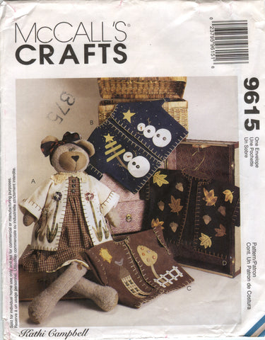 "McCall's 9615 45"" Bear with Jackets -  - Smiths Depot Sewing Pattern Superstore"