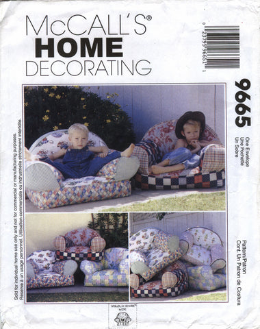 McCall's 9665 Kids' Chair -  - Smiths Depot Sewing Pattern Superstore