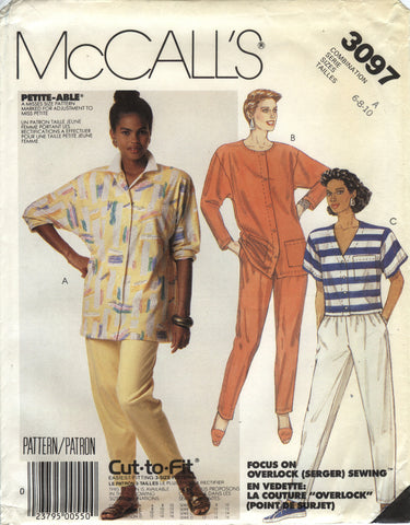McCall's 3097 Misses' Shirts and Pants - A (6-8-10) - Smiths Depot Sewing Pattern Superstore