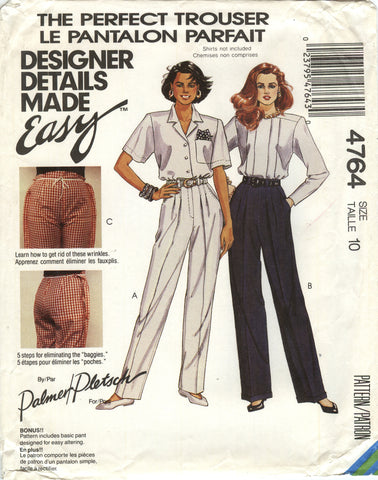 McCall's 4764 Misses' Pants - (10) - Smiths Depot Sewing Pattern Superstore
