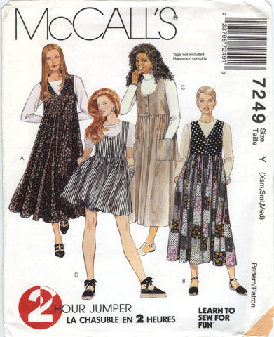 McCall's 7249 Misses' Jumper in Two Lengths - Y (4-6-8-10-12-14) - Smiths Depot Sewing Pattern Superstore