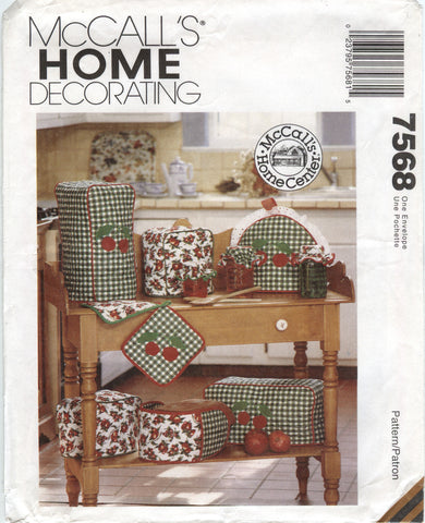McCall's 7568 Kitchen Cherry Decoration Essentials -  - Smiths Depot Sewing Pattern Superstore