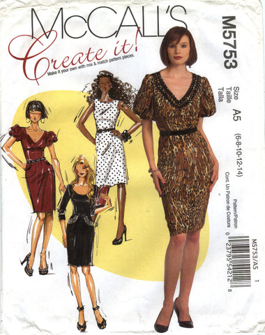 McCall's 5753 Misses' Dresses and Belts - A5 (6-8-10-12-14) - Smiths Depot Sewing Pattern Superstore