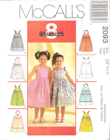 McCall's 2093 Children's and Girls' Dresses