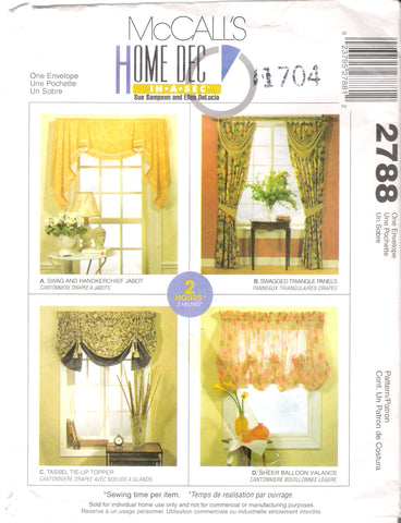 McCall's 2788 Window Treatments