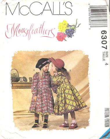 McCall's 6307 Children's and Girls' Dresses