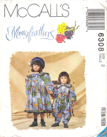 McCall's 6308 Children's and Girls' Dress, Jumpsuit and Headband