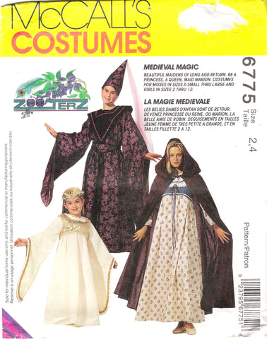 McCall's 6775 Children's, Girls' and Misses' Medieval Costumes