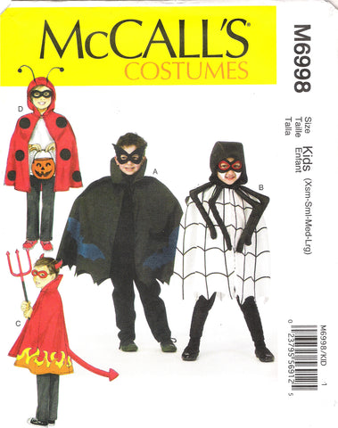 McCall's 6998 Children's / Boys' / Girls' Costumes