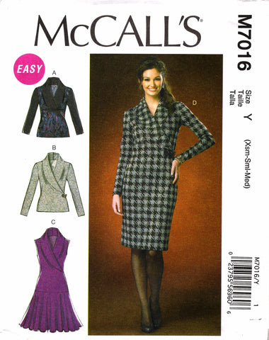 McCall's 7016 Misses' Tops and Dresses
