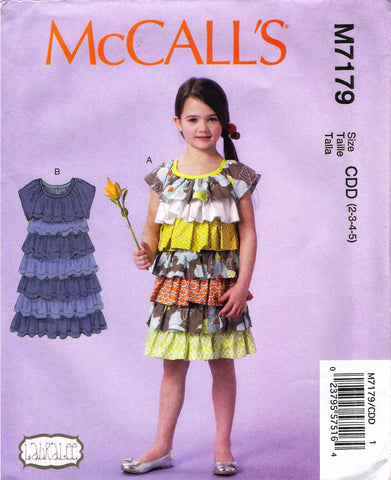 McCall's 7179 Children's/Girls' Dresses