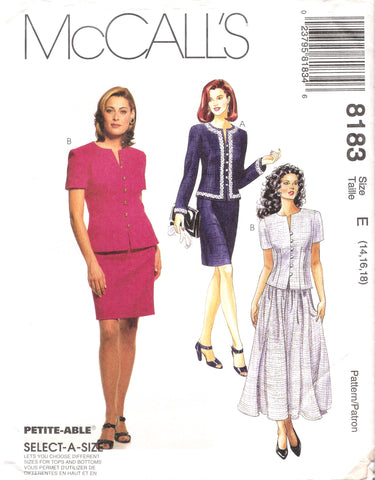 McCall's 8183 Misses' Two Piece Dresses
