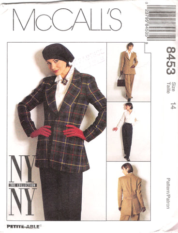 McCall's 8453 Misses' Lined Jacket, Shirt and Pants