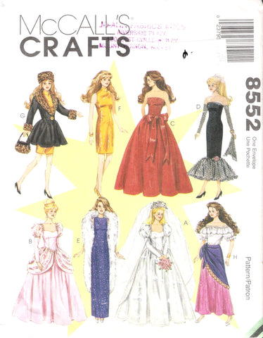 McCall's 8552 Fashion Doll Clothes