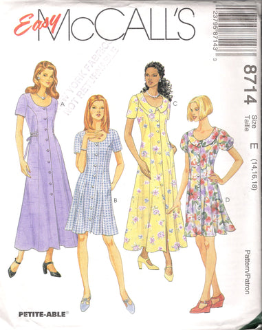 McCall's 8714 Misses' Dress in Two Lengths