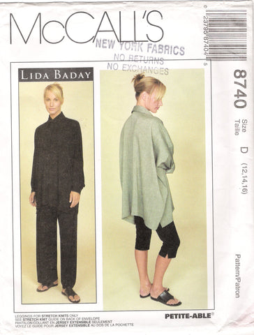 McCall's 8740 Misses' Shirt, Pull-On Pants and Leggings