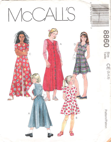 McCall's 8860 Children's and Girls' Dress and Jumpsuit in Two Lengths