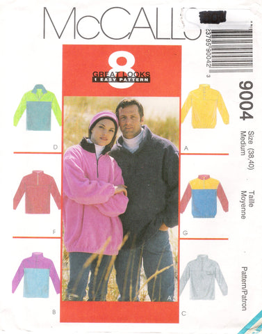 McCall's 9004 Misses' and Men's Top and Headband