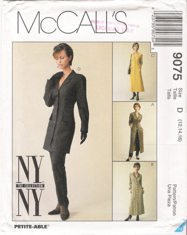 McCall's 9075 Misses' Unlined Jacket, Dress and Pants