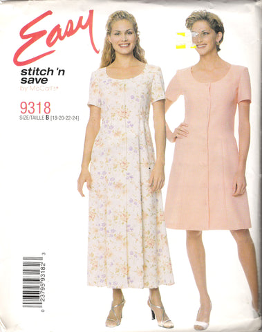 McCall's 9318 Misses' Dress in Two Lengths
