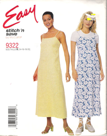 McCall's 9322 Misses' Dress or Jumper