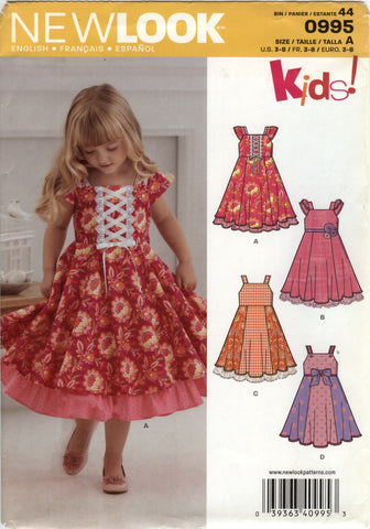 New Look 0995 Children's Dress Six Sizes in One -  - Smiths Depot Sewing Pattern Superstore