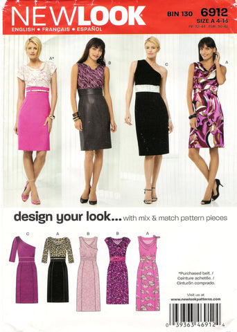 New Look 6912 Misses' Seven Sizes in One - A (4-8-10-12-14-16) - Smiths Depot Sewing Pattern Superstore
