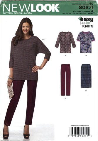 New Look 0271 Misses' Shirt, Skirt and Pants Five Sizes in One - A (6-8-10-12-14-16-18-20-22-24) - Smiths Depot Sewing Pattern Superstore