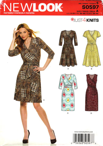 New Look 0597 Misses' Dress Seven Sizes in One - A (8-10-12-14-16-18-20-22) - Smiths Depot Sewing Pattern Superstore