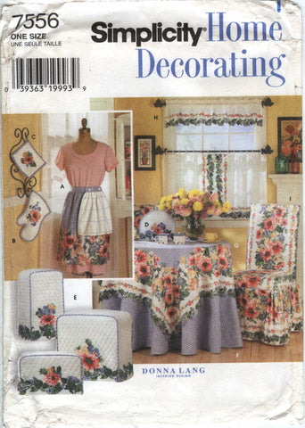 Simplicity 7556 Flower Kitchen Accessories -  - Smiths Depot Sewing Pattern Superstore