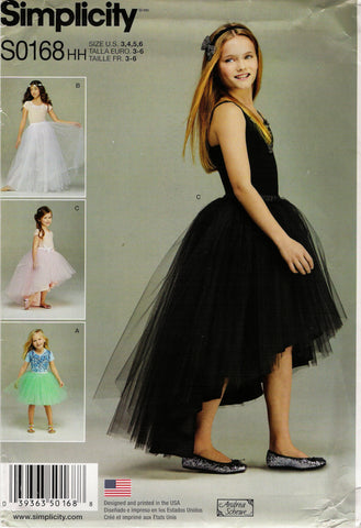 Simplicity 0168 Child's/Girls' Tulle Skirts - HH (3-4-5-6) - Smiths Depot Sewing Pattern Superstore  - 1