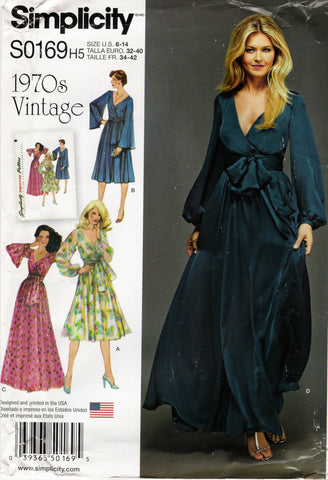Simplicity 0169 Misses' Lined Dress in Two Length and Sash - H5 (6-8-10-12-14) - Smiths Depot Sewing Pattern Superstore  - 1