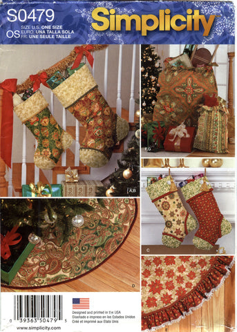 Simplicity 0479 Holiday Christmas Decorations -  - Smiths Depot Sewing Pattern Superstore