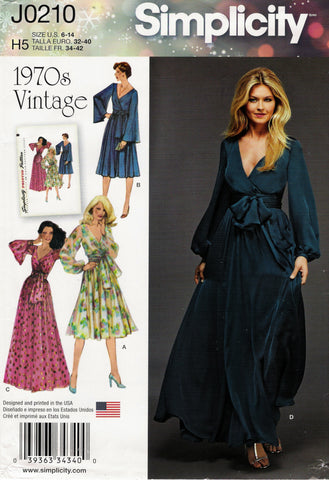 Simplicity 0210 Misses' Lined Dress in Two Length and Sash - H5 (6-8-10-12-14) - Smiths Depot Sewing Pattern Superstore  - 1
