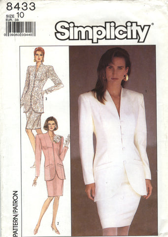 Simplicity 8433 Misses' Semi-Fitted Suit with Lined Jacket - (10) - Smiths Depot Sewing Pattern Superstore