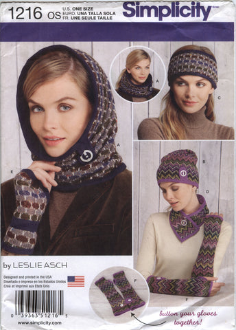 Simplicity 1216 Misses' Knit Cold Weather Accessories -  - Smiths Depot Sewing Pattern Superstore