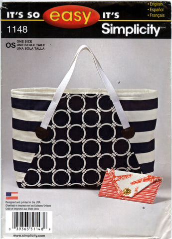 Simplicity 1148 Tote Bag and Clutch -  - Smiths Depot Sewing Pattern Superstore