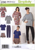 Simplicity 2190 Misses' Pants, Skirt and Knit Dress or Tunics and Sash - D5 (4-6-8-10-12) - Smiths Depot Sewing Pattern Superstore  - 1