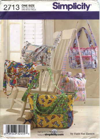 Simplicity 2713 Diaper Bags -  - Smiths Depot Sewing Pattern Superstore